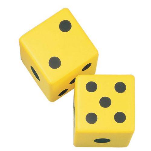 Champion Sports 6FD 6 in. Coated Foam Dice Yellow & Black