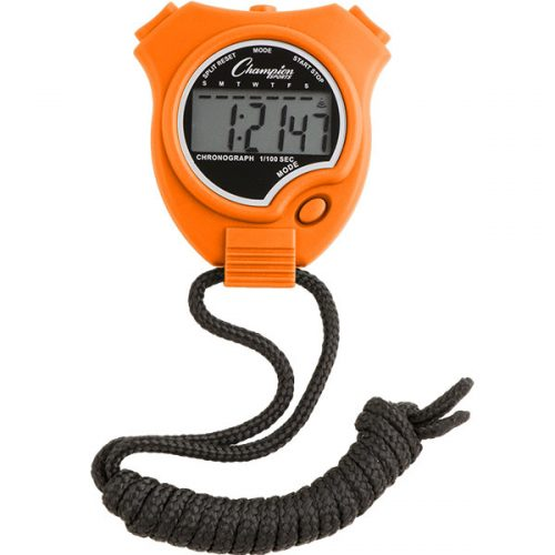 Champion Sports 910NOR Stop Watch Neon Orange