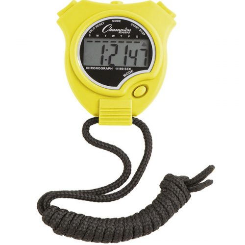 Champion Sports 910NYL Stop Watch Neon Yellow