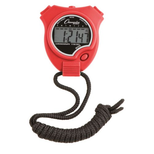 Champion Sports 910RD Stop Watch Scarlet