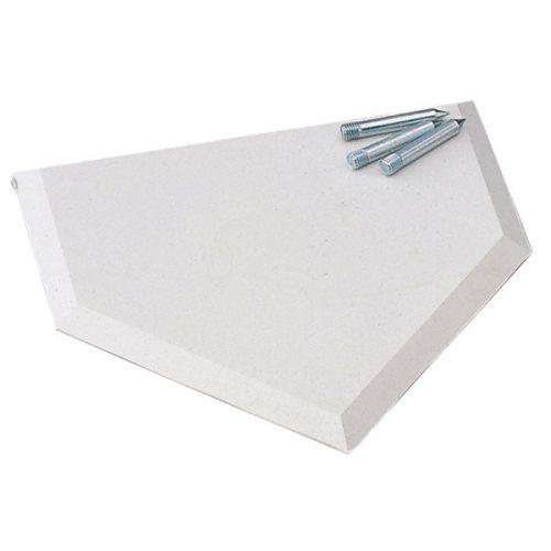 Champion Sports 95 E-Z Slide Home Plate White