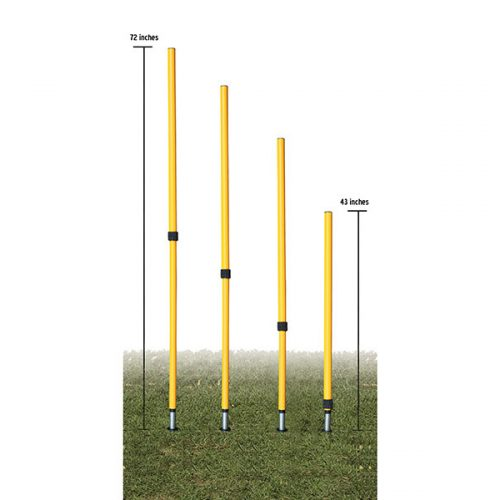 Champion Sports AJAPSET Adjustable Agility Pole Set - Set of 4