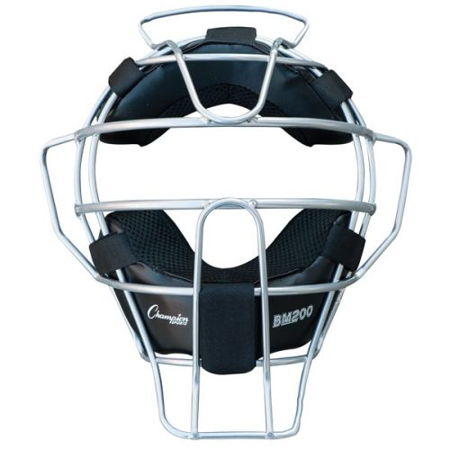 Champion Sports BM200SL Umpire Lightweight Umpire Face Mask Silver