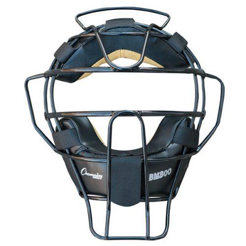 Champion Sports BM300BK Ultra Lightweight Umpire Face Mask Black