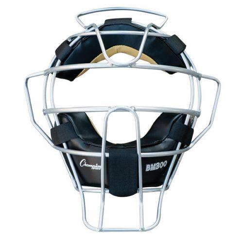 Champion Sports BM300SL Ultra Lightweight Umpire Face Mask Silver
