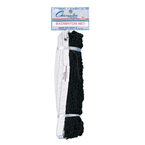 Champion Sports BN20 21 x 2.5 ft. 18-Ply Badminton Net Black & White - 1.77 lbs