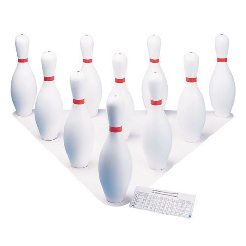 Champion Sports BP10 Plastic Bowling Pin Set White - Set of 10