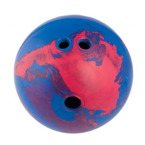 Champion Sports BP45 5 lbs Rubber Bowling Ball Blue & Red