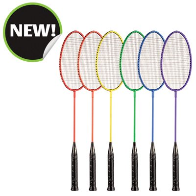 Champion Sports BR21SET 26 x 8 x 1 in. All Steel Frame Badminton Racket Assorted Colors
