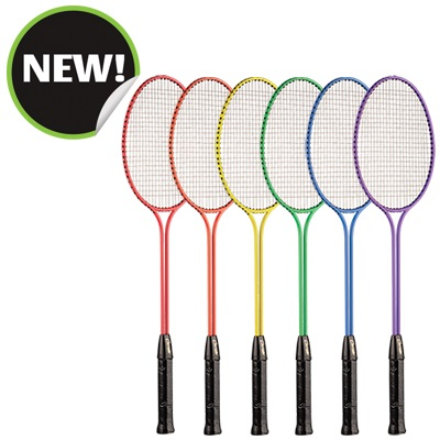 Champion Sports BR31SET 26 x 8 x 1 in. All Steel Frame Badminton Racket Assorted Colors