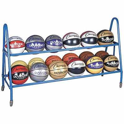 Champion Sports BRC18 18 Ball Cart Blue