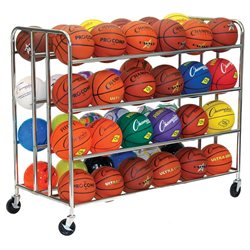 Champion Sports BRC48 48 Ball Double Ball Rack Silver