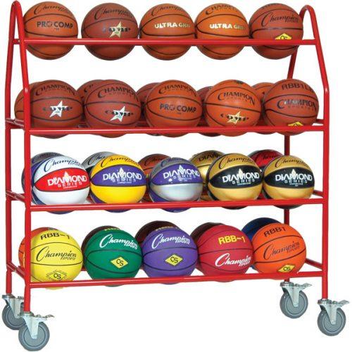 Champion Sports BRCPRO Pro Ball Cart Red