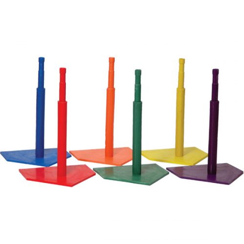 Champion Sports C90SET Deluxe Batting Tee Set Mulricolor - Set of 6