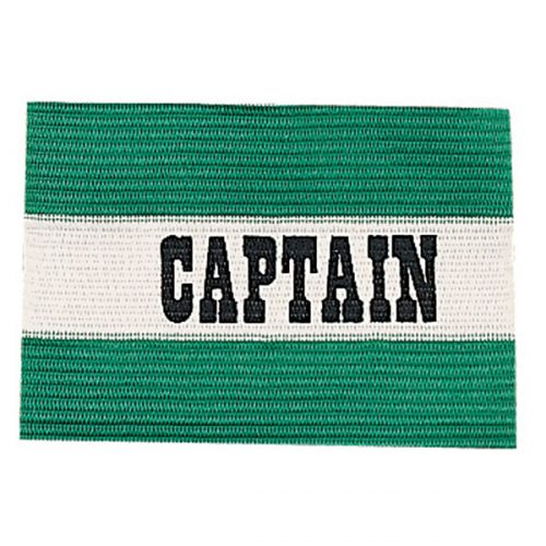 Champion Sports CAPGN Adult Captain Arm Band Green & White
