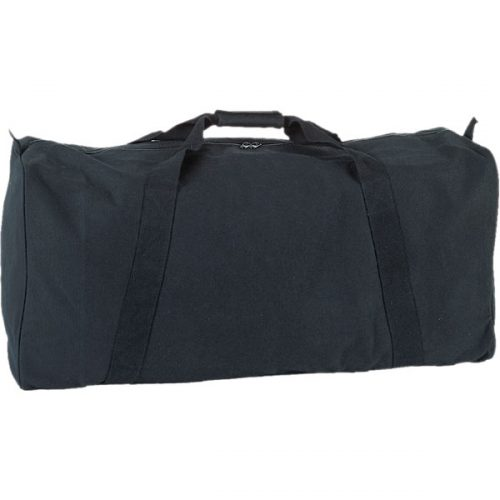 Champion Sports CB3314BK 22 oz Canvas Zippered Duffle Bag Black