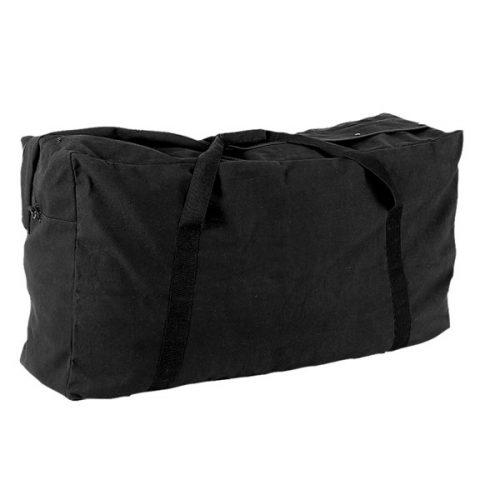 Champion Sports CB4224BK 22 oz Oversized Canvas Zippered Duffle Bag Black