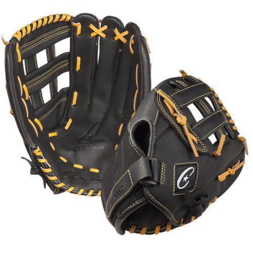 Champion Sports CBG960 14 in. Physical Education Glove Series Black