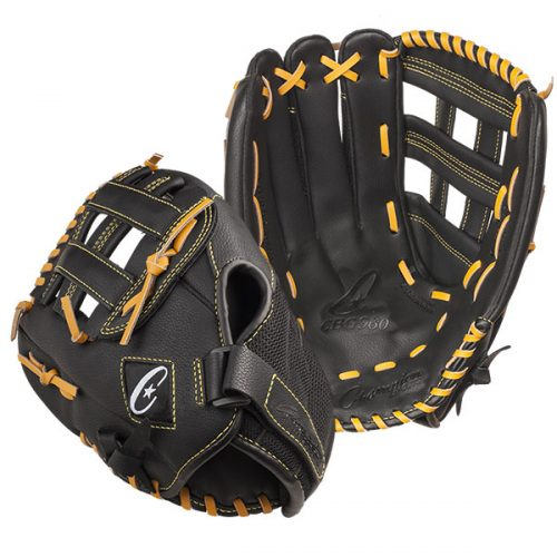 Champion Sports CBG960RH 14 in. Physical Education Glove Series - Full Right Black