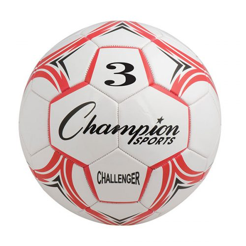 Champion Sports CH3RD Challenger Series Soccer Ball Red & White - Size 3