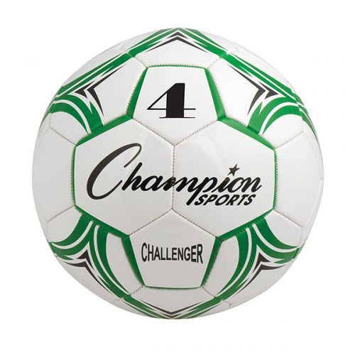 Champion Sports CH4GN Challenger Series Soccer Ball Green & White - Size 4