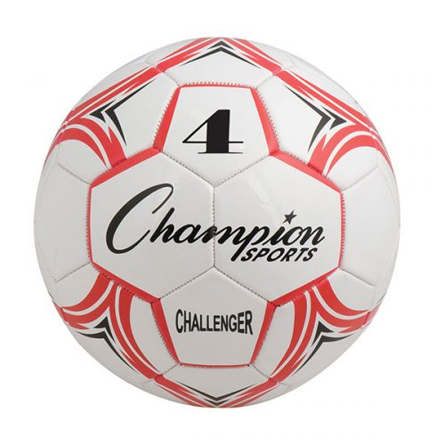 Champion Sports CH4RD Challenger Series Soccer Ball Red & White - Size 4