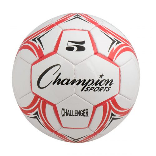 Champion Sports CH5RD Challenger Series Soccer Ball Red & White - Size 5