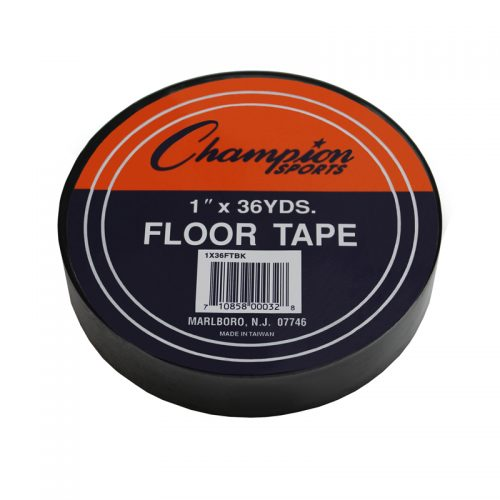 Champion Sports CHS1X36FTBKBN Floor Marking Tape Black - Pack of 6