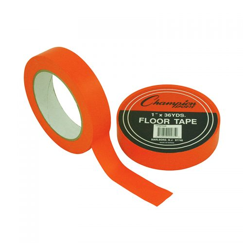 Champion Sports CHS1X36FTORBN Floor Marking Tape Orange - Pack of 6