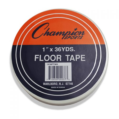 Champion Sports CHS1X36FTWHBN Floor Marking Tape White - Pack of 6