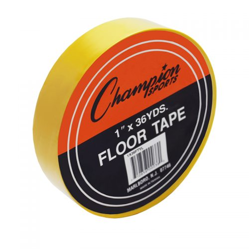 Champion Sports CHS1X36FTYLBN Floor Marking Tape Yellow - Pack of 6