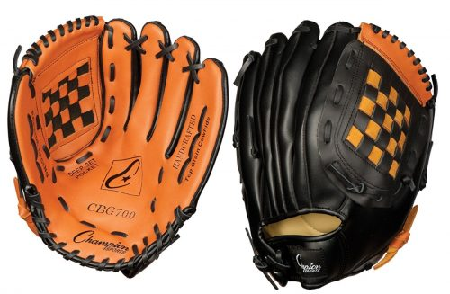 Champion Sports CHSCBG700 12 in. Leather Front Vinyl Back Fielders Glove