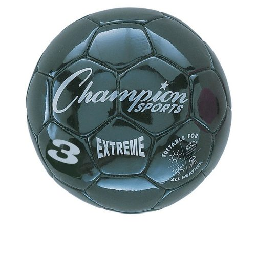Champion Sports CHSEX3BK 3 Size Extreme Series Soccer Ball - Black