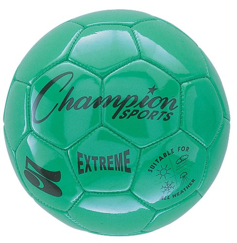 Champion Sports CHSEX3GN 3 Size Extreme Series Soccer Ball - Green