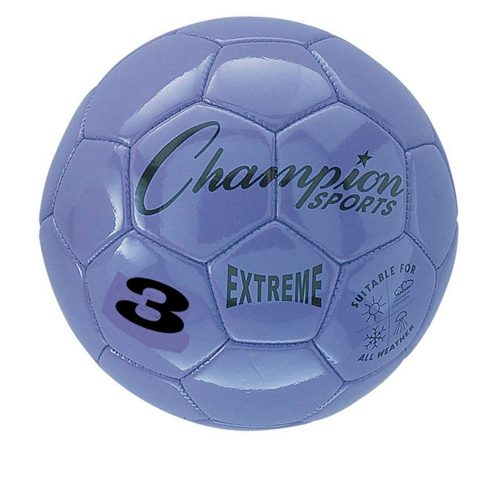 Champion Sports CHSEX3PR 3 Size Extreme Series Soccer Ball - Purple