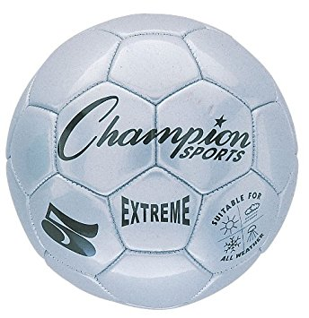 Champion Sports CHSEX3SL 3 Size Extreme Series Soccer Ball - Silver