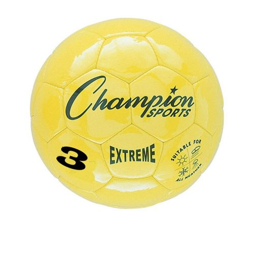 Champion Sports CHSEX3YL 3 Size Extreme Series Soccer Ball - Yellow