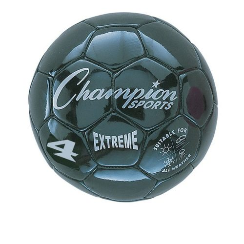Champion Sports CHSEX4BK 4 Size Extreme Series Soccer Ball - Black