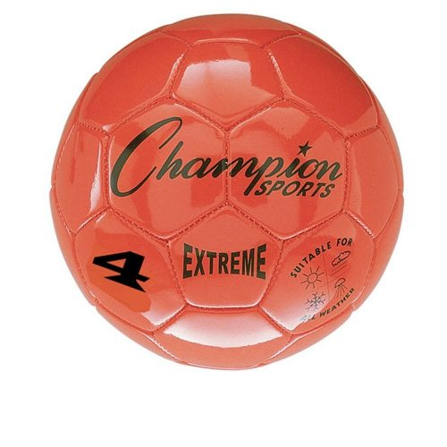 Champion Sports CHSEX4OR 4 Size Extreme Series Soccer Ball - orange