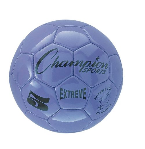 Champion Sports CHSEX4PR 4 Size Extreme Series Soccer Ball - Purple