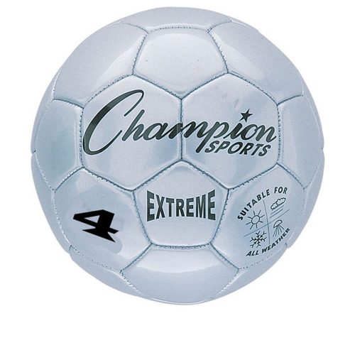 Champion Sports CHSEX4SL 4 Size Extreme Series Soccer Ball - Silver