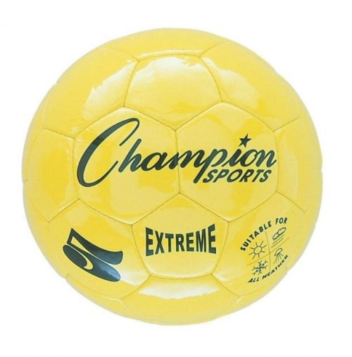 Champion Sports CHSEX4YL 4 Size Extreme Series Soccer Ball - Yellow