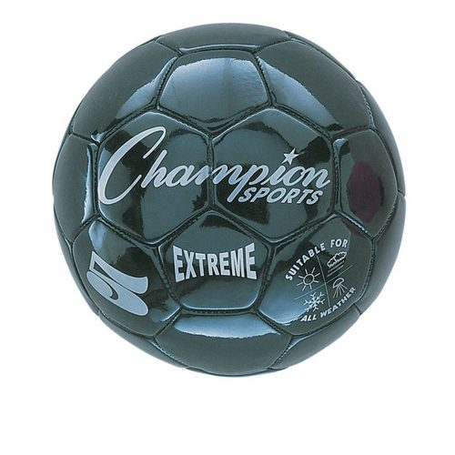 Champion Sports CHSEX5BK 5 Size Extreme Series Soccer Ball - Black