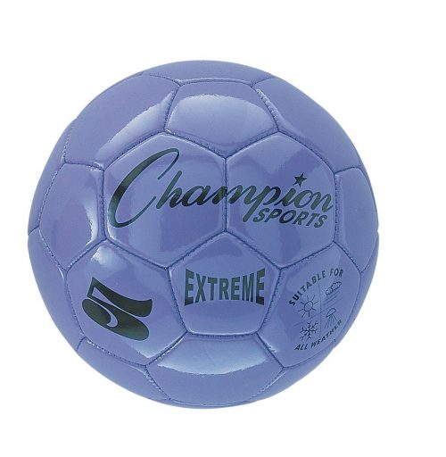 Champion Sports CHSEX5PR 5 Size Extreme Series Soccer Ball - Purple