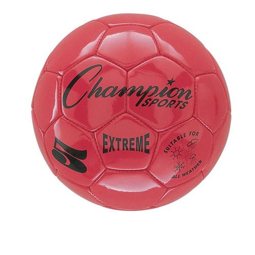 Champion Sports CHSEX5RD 5 Size Extreme Series Soccer Ball - Red