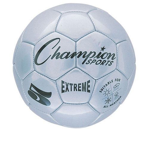 Champion Sports CHSEX5SL 5 Size Extreme Series Soccer Ball - Silver