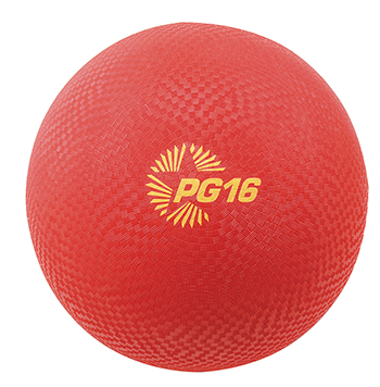 Champion Sports CHSPG16RD Playground Balls Inflates To 16In