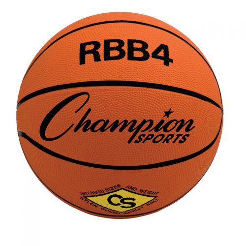 Champion Sports CHSRBB4BN Intermediate Size Rubber Basketball