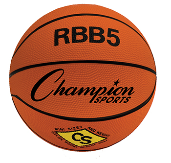 Champion Sports CHSRBB5 Mini Basketball 7In Diameter Orange