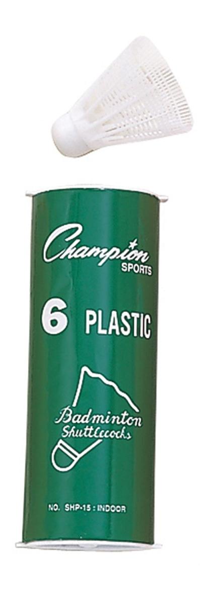 Champion Sports CHSSHP15 Plastic Indoor Shuttlecock